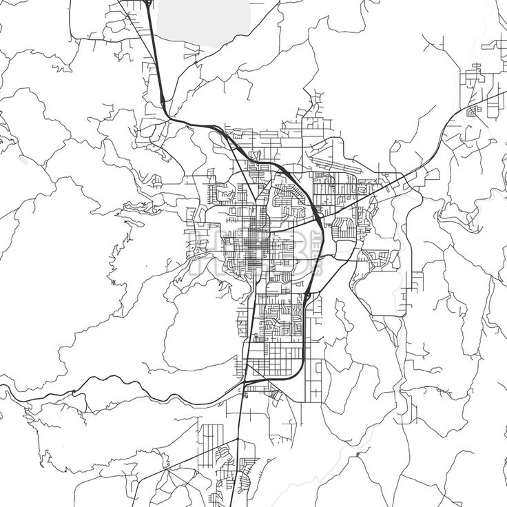 Carson city nevada area map light streit