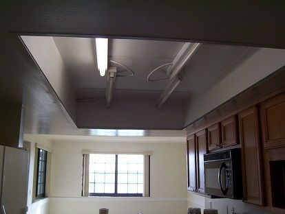 What to do with that 1980u0027s style kitchen lighting? Drop Ceiling ... & Best 25+ Drop ceiling lighting ideas on Pinterest | Dropped ... azcodes.com