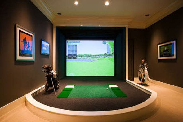 state-of-the-art golf simulator; perfect for the house!