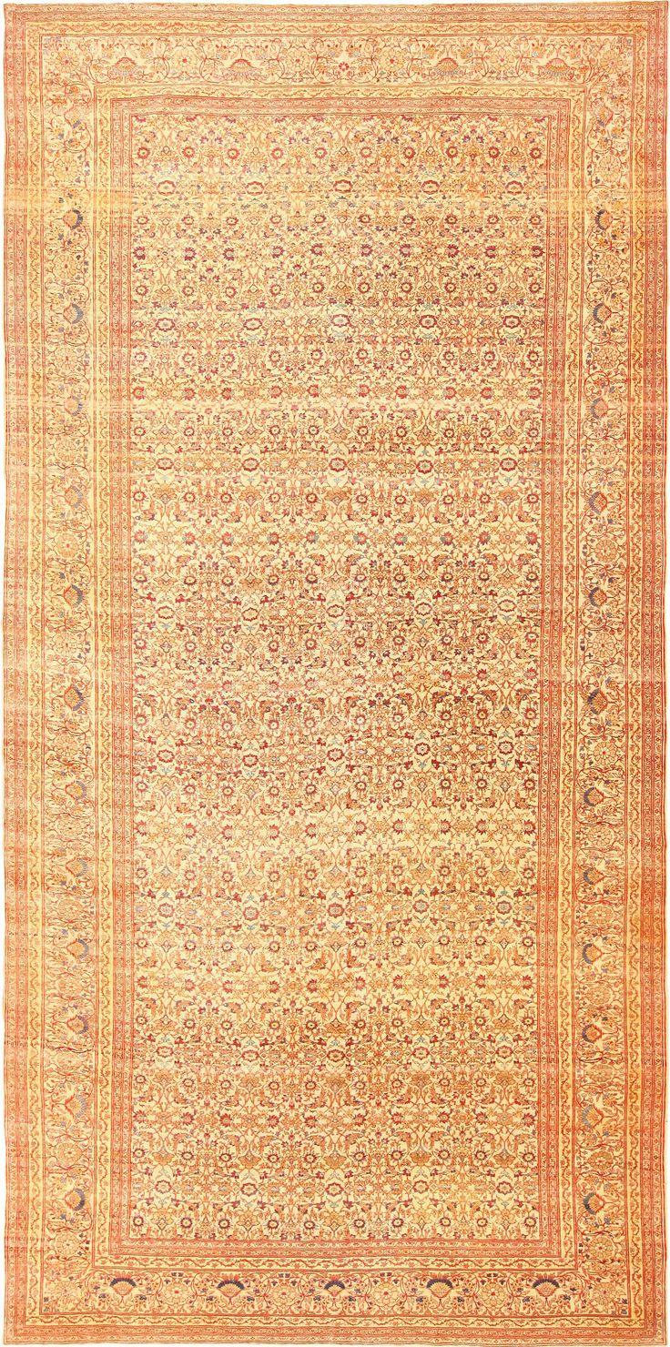 Antique Persian Haji Jalili Tabriz Rug 49164, Country of Origin / Rug Type: Persian Rugs, Circa Date: 1880 8 ft 9 in x 17 ft 3 in (2.67 m x 5.26 m)