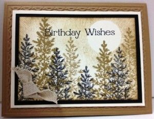 Handmade masculine/male/guy card using Lovely as a Tree stamp set from Stampin' Up!