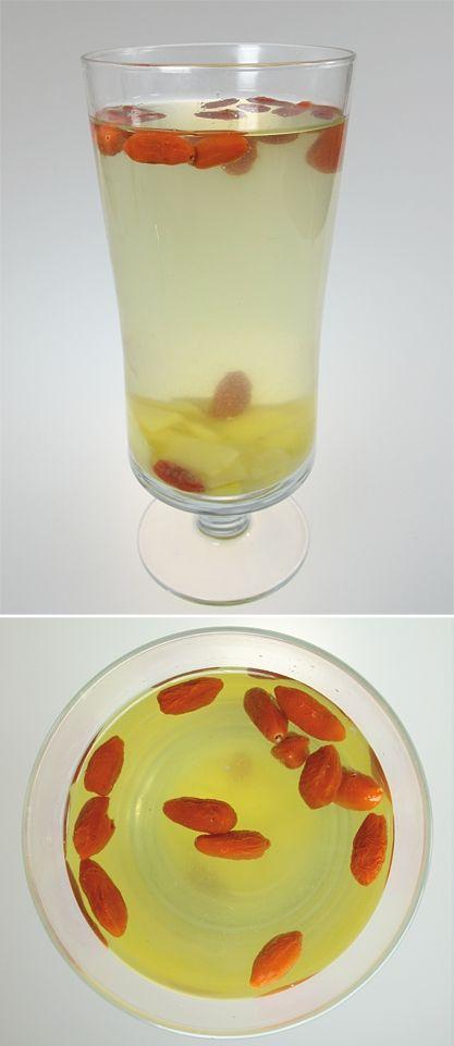 Zázvorový nápoj s goji – kustovnicí čínskou