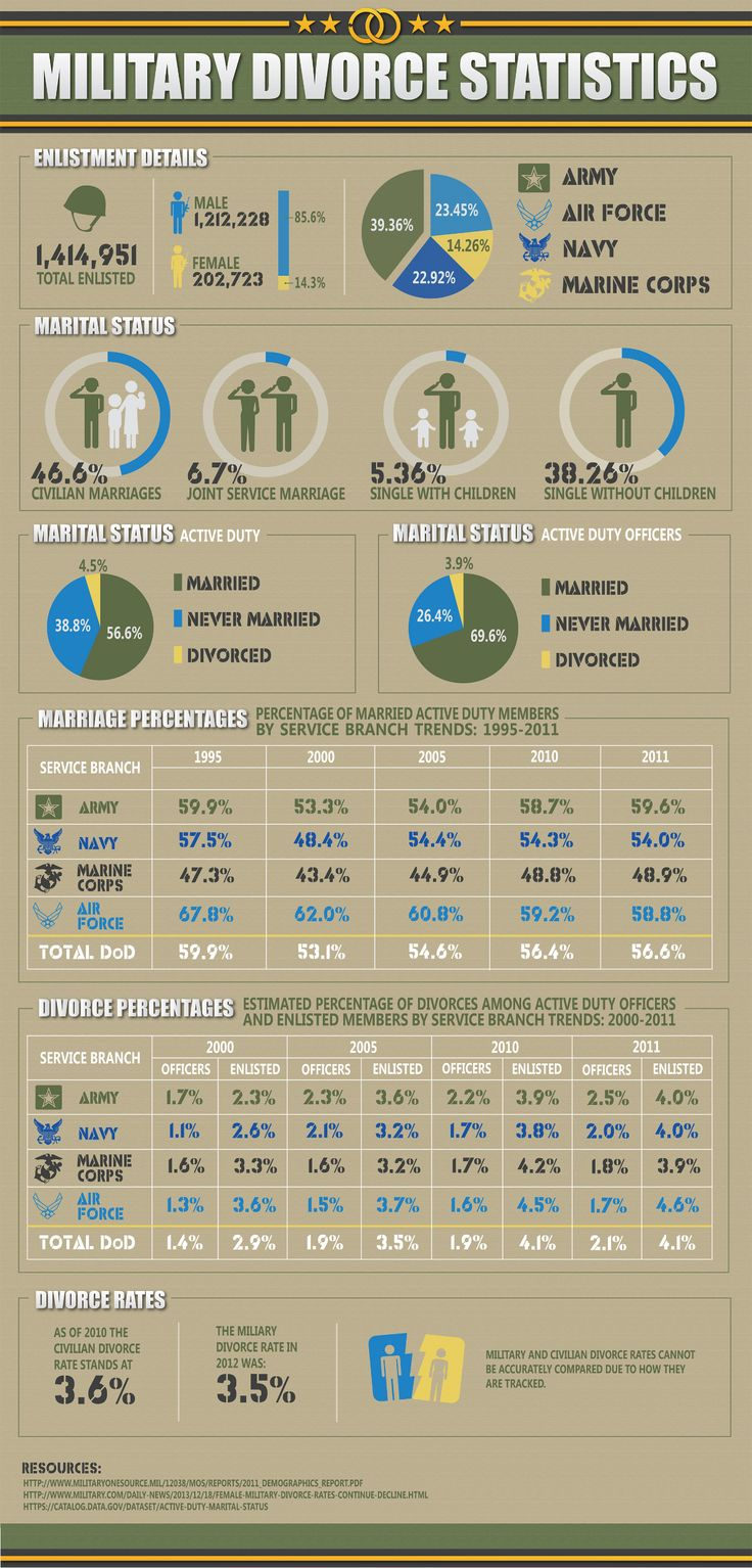 Military Divorce Statistics Infographic - interesting...