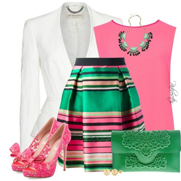 17 Best ideas about Pink And Green Dress on Pinterest | Sexy green ...