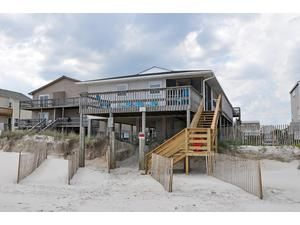 Topsail Island rental: Victoria's Seacrest Duplex - Oceanfront 3 bedroomsduplex in North Topsail Beach,