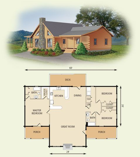 One level vaulted ceiling house plans house design plans for Single level log home plans