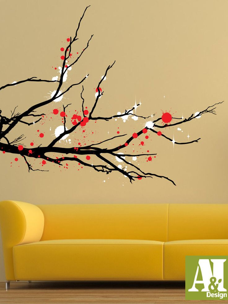 46 best tree murals images on Pinterest | Cherry blossoms, Wall ...
