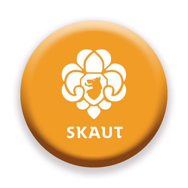 Obchod Skaut - Placka 44 Nové Logo oranžová