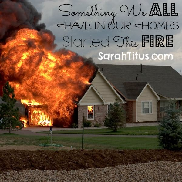 Something We All Have In Our Homes Started This Fire (Kids and Character) - Sarah Titus