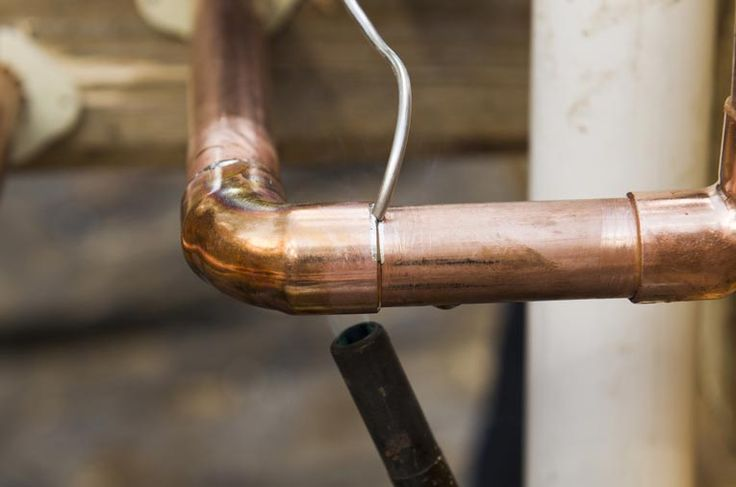 When soldering copper pipe, heat the fitting not the pipe. Touch the solder to the joint and watch the capillary action pull it evenly all the way around the connection. http://www.hometips.com/diy-how-to/copper-pipe-cutting-joining.html