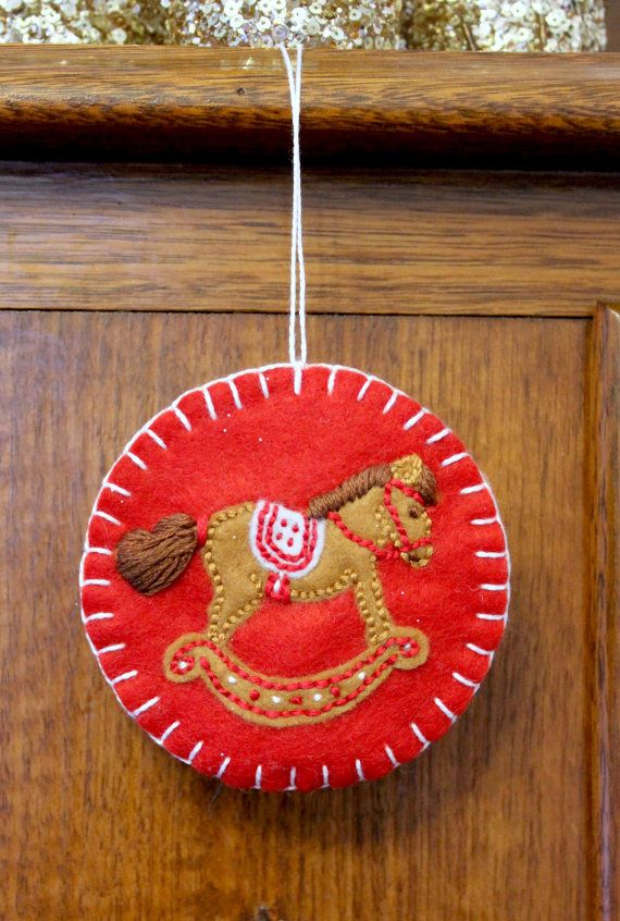 Rocking Horse Christmas Ornament. by PuddleducklaneAgain on Etsy