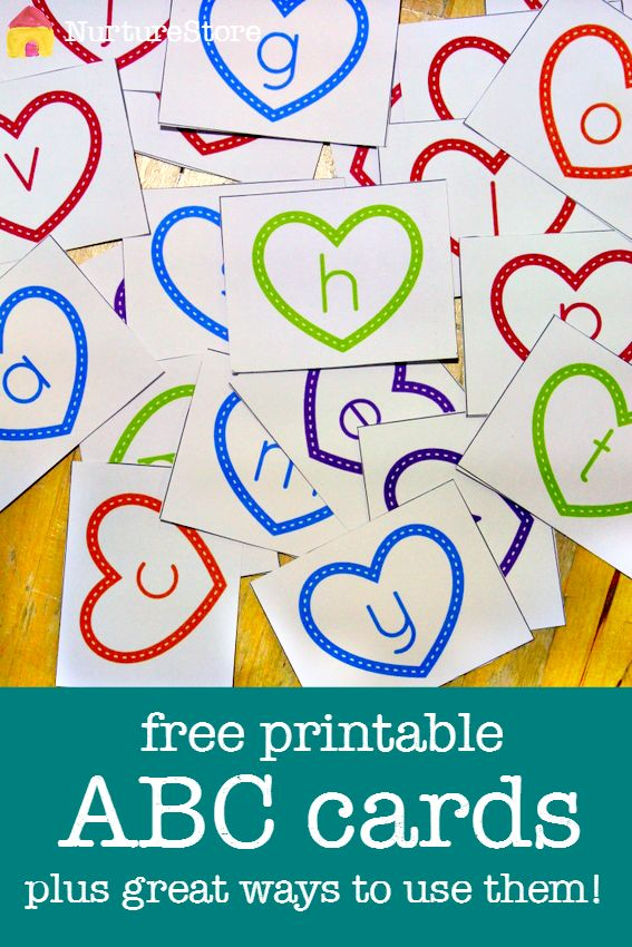 Free printable alphabet cards plus ideas for learning how to read activities and spelling games.