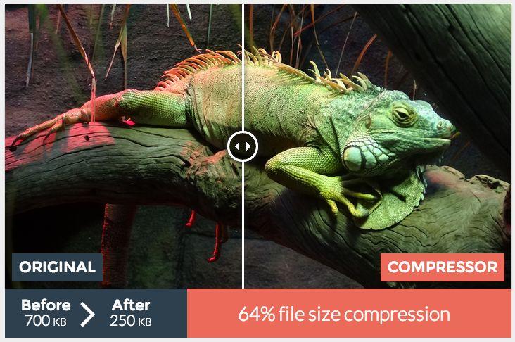 Compressor.io Optimiza y comprime tus imágenes online