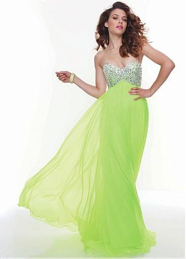 162bc77738 ... champagne chiffon embellished one shoulder empire waist prom dress ...