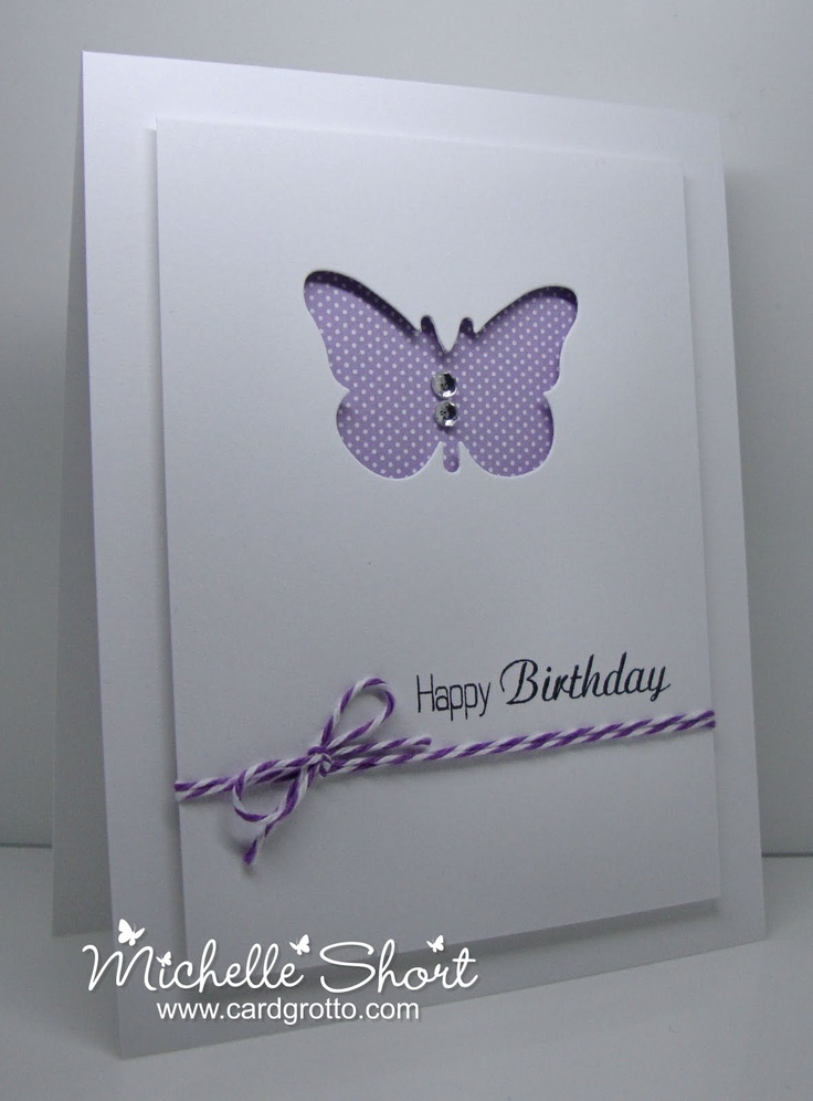 The Card Grotto: Butterfly Cut Out
