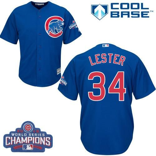 3321120c516 ... Cubs 34 Jon Lester Blue Alternate 2016 World Series Champions Stitched  Youth MLB Jersey ...