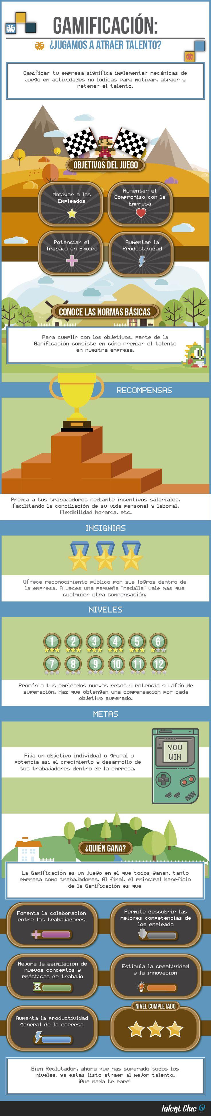 Gamificación: ¿jugamos a atraer talento? #infografia #infographic #rrhh | TICs y Formación