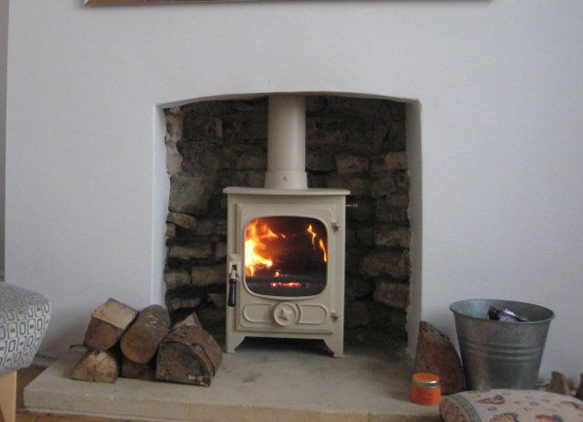 Log Burner Fireplace Country