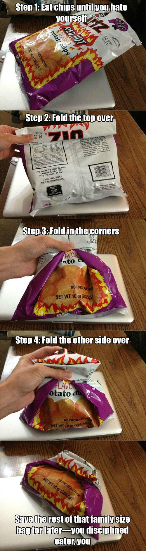 Como cerrar una bolsa!