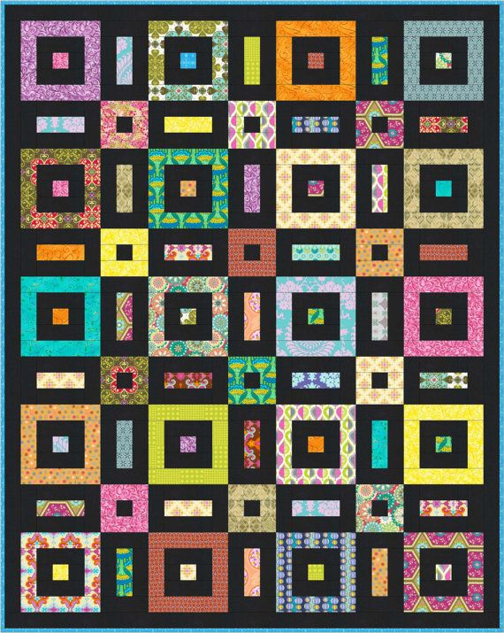 Soho Sanctuary Beginner Quilt Pattern Easy by LittleLouiseQuilts