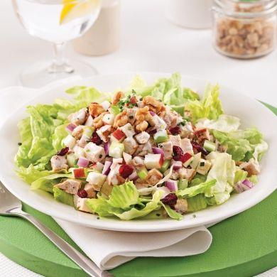 Salade de poulet crémeuse aux canneberges sèchées