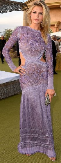 Kelly Rohrbach at  beau Leonardo DiCaprio's benefit gala on July 22