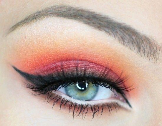 Burning Eyes on Makeup GeekMakeup Geek, Catching Fire, Cat Eye, Eye Makeup, Eye Color, Colors, Sunsets, Eyemakeup, Beautiful Eye