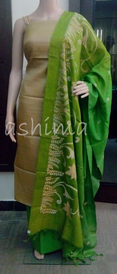 Code:1612151 Tussar silk With Embroidered Dupatta Price INR:3880/-