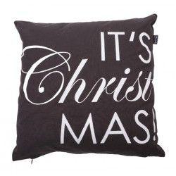 Kerst kussen met de tekst It's Christmas! Een mooi woonkussen wat je interieur een feestelijke uitstraling geeft!
