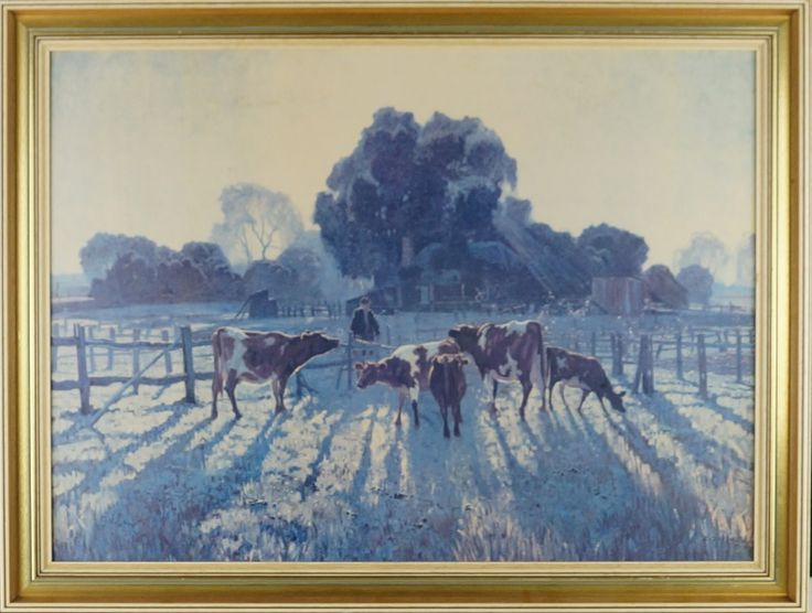 ELIOTH GRUNER (1882 - 1939)  Decorative Print Title: Spring Frost Size: 55cm x 75cm Frame Size: 65cm x 86cm Artwork is Housed in a Timber Frame