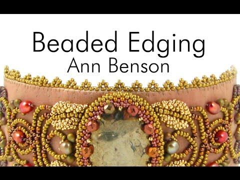 Beaded edging for bead embroidery projects, a brief but thorough tutorial overview of the beading technique used to add a professional edge to your bead embr...
