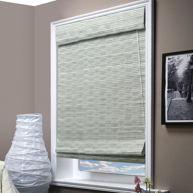 Chicology offers you this charming pre-cut roman-style shade for an attractive, functional addition to your windows. Complete with a built-in valance for a finished look, this energy saving widow shade can be installed as an inside or outside mount.