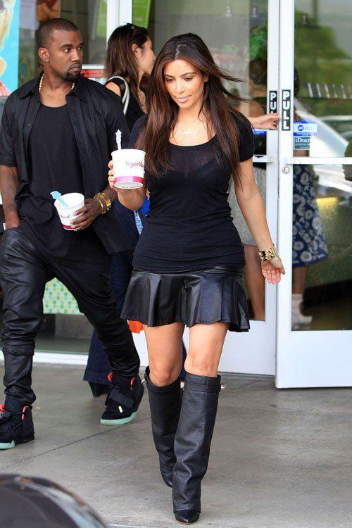 LOVE Kim Kardashian\u0027s Yogurt Land Givenchy Shark Lock Fold Over Wedge Boots
