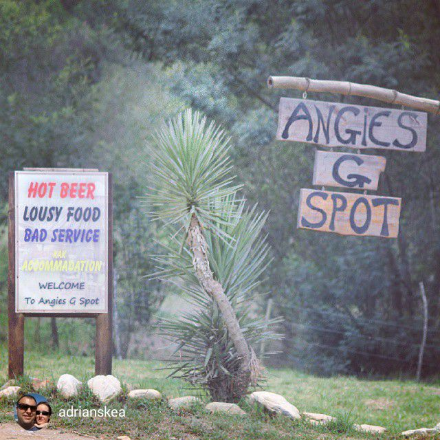Angie's G-Spot between Knysna and Uniondale. Very interesting bush pub with great food and simple accommodation