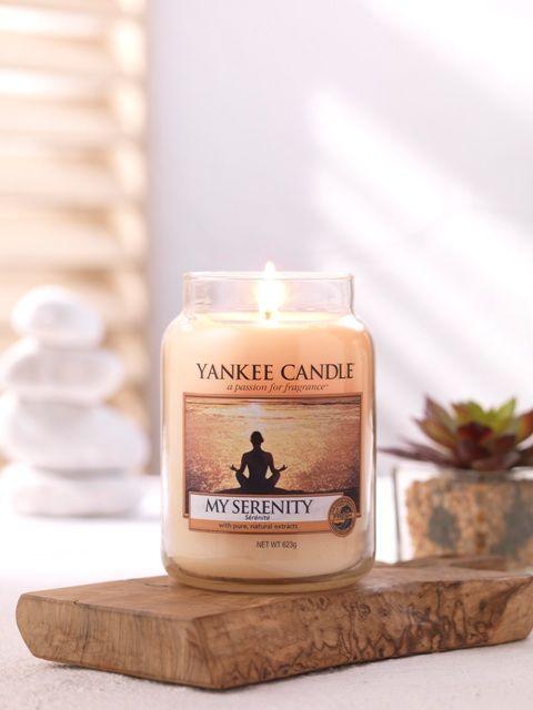 My Serenity Definitionen av lugn! Varm päron och apelsin blandat med tropiska blommor och mjuk mysk. #YankeeCandle #MySerenity