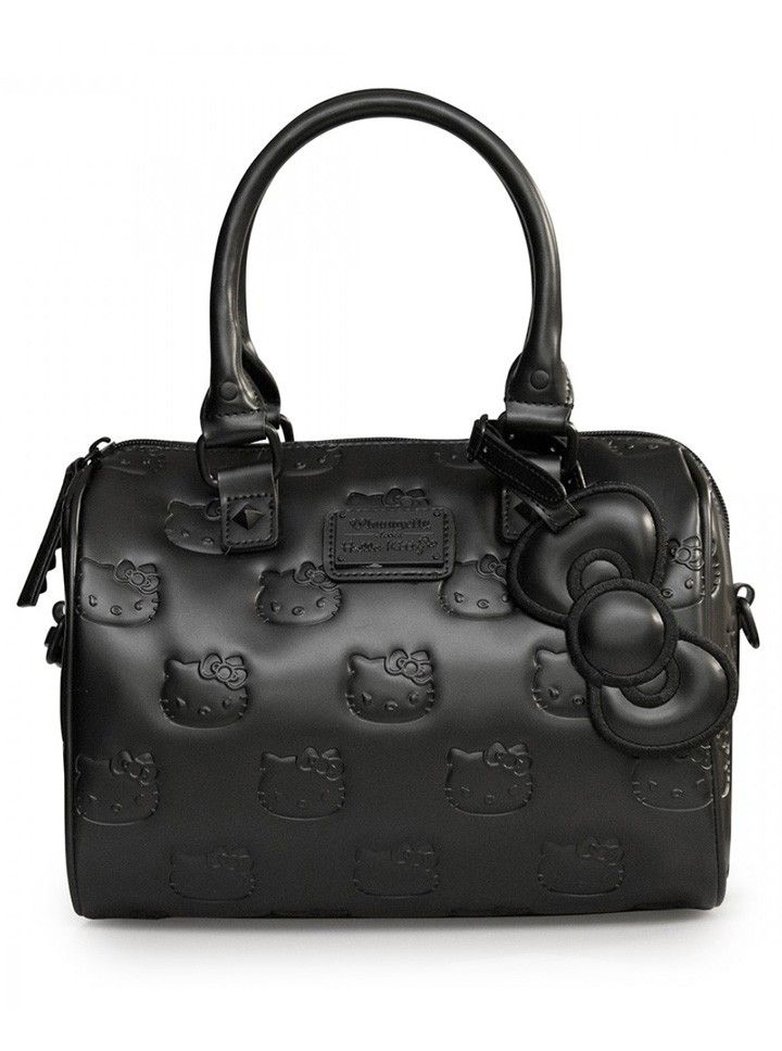 """Hello Kitty Angry"" Mini City Handbag by Loungefly (Black) #InkedShop #handbag #hellokitty #bag #Purse #style"