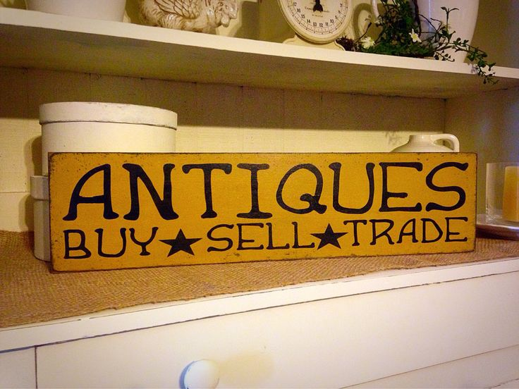 Antiques Buy Sell Trade, Primitive Wood Sign, Primitive Antiques, Rustic Sign, Wall Decor, Primitive Decor by DaisyPatchPrimitives on Etsy https://www.etsy.com/listing/194300146/antiques-buy-sell-trade-primitive-wood