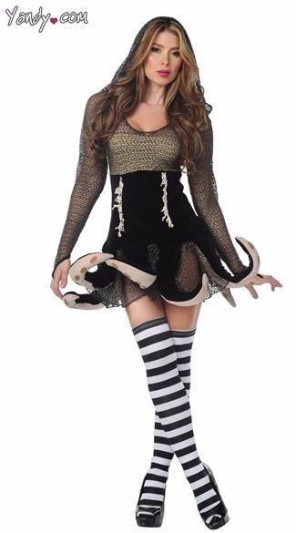 LADIES' SEXY URSULA OCTOPUS COSTUME - LITTLE MERMAID VILLAIN PLUS SIZE XL DELUXE #Yandy #CompleteOutfit #Halloween
