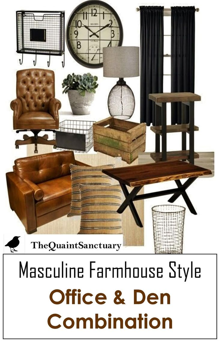 The Quaint Sanctuary: { Masculine Office / Den Inspiration Board }