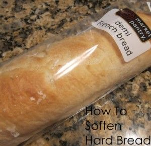 If you have ever bought bread and let it sit out too long, you know that it gets hard. Don't throw it out! Here are two easy ways to soften it up again.