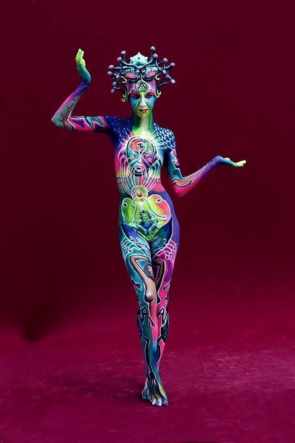 Verbreitete Art Des Bodypaintings