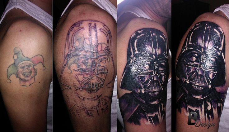 cover up - dart vader -tattoo artist: László Bódi /BL Design Tattoo Studio