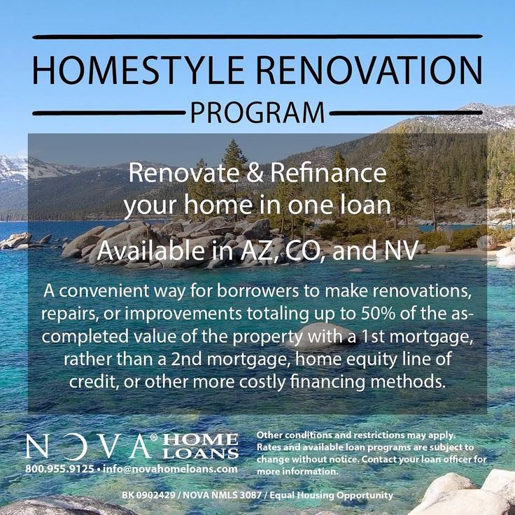 Love your home but need an upgrade? Get information on the HomeStyle Renovation  program from