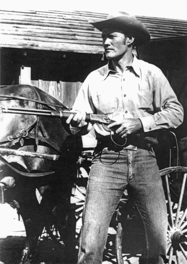 "Chuck Connors in ""The Spiked Rifle"" - episode 49 of The Rifleman, Original Air Date:  11/24/1959"