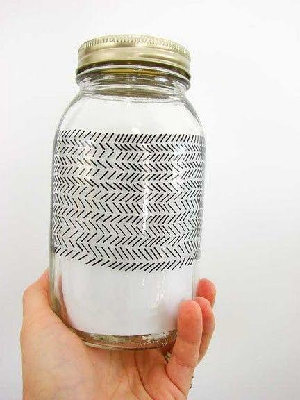 Porcelain pens on mason jars @ Do It Yourself Remodeling Ideas
