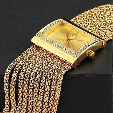 Women's Luxury Lady Alloy Metal Crystal Beaded Tassel Band Quartz Bracelet Watch (Assorted Color) – AUD $ 22.87
