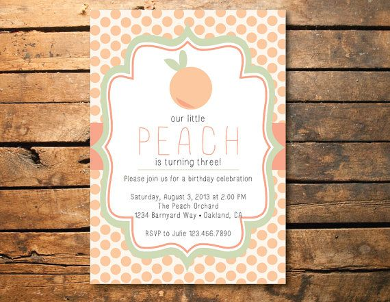 Little Peach Polka Dot Birthday Party Or Baby By SmashCakeandCo, $10.00
