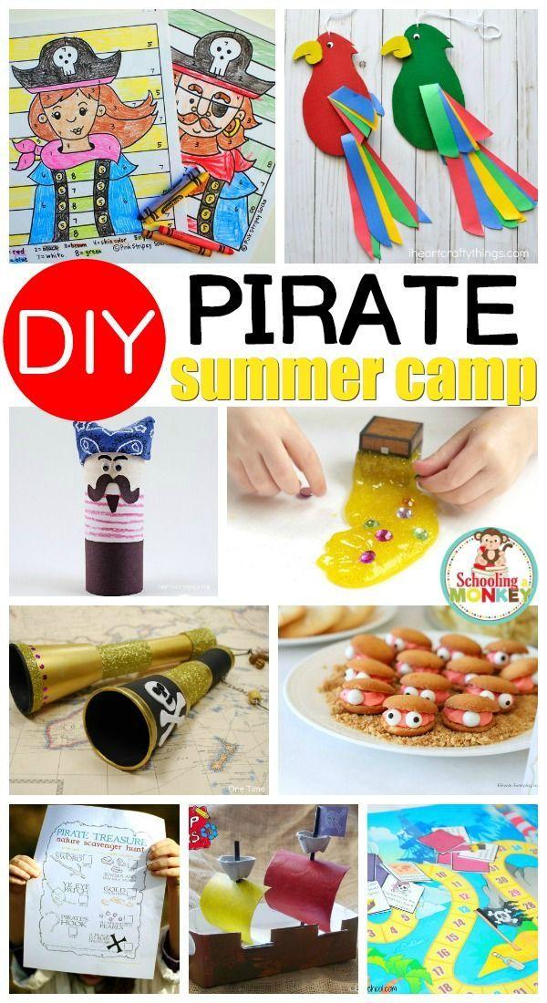 Erstelle dein eigenes seetüchtiges Piraten-Sommercamp zu Hause! – preschool holidays