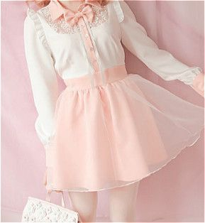 • cute kawaii pink pastel Korean fashion kfashion dresses Japanese Fashion jfashion pastel pink cfashion chinese fashion bobon21 edit:kawaii-ful kawaii-ful •
