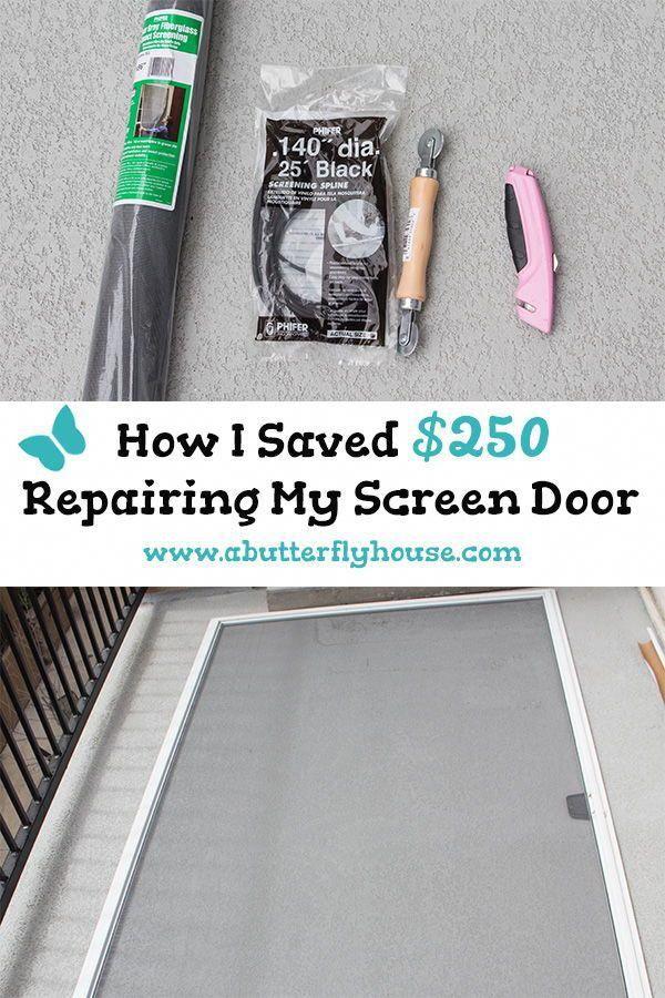 Sinks Are Generally Not Pricey However It Depends Upon The Material Sinks Are Available In A Range Of Pr Screen Door Repair Diy Screen Repair Diy Home Repair